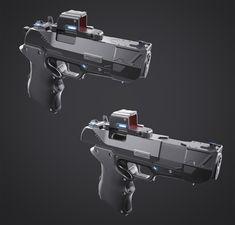 ArtStation - Handgun concept, Dragos Casian