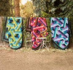 RJR Malam Batiks Catwalk by Jinny Beyer Quilt - None