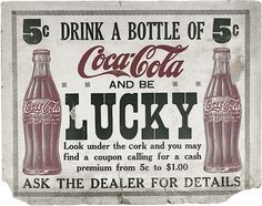 Can you believe it was only 5 cents back then? The first thing I noticed was the bold print LUCKY. The purpose was to get the people's attention.