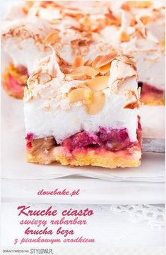 Sweet Recipes, Cake Recipes, Cinnamon Desserts, Easter Dishes, Rhubarb Cake, Cheap Easy Meals, Best Food Ever, Italian Desserts, Biscuits