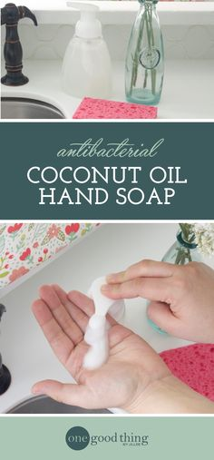 Learn how easy it is to mix up your own all-natural foaming hand soap. It has coconut oil to moisturize your skin, and essential oils to tackle germs.