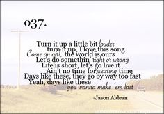 days like these - jason aldean