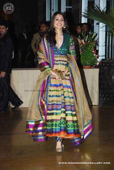Anushka in rainbow colors