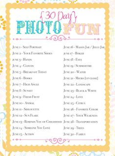June fun photo challenge