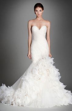 Lazaro - Sweetheart Fit and Flare in Silk Organza