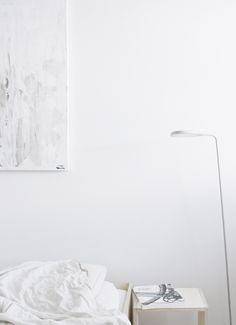 light minimal bedroom, Muuto leaf lamp. from d a d a a blog