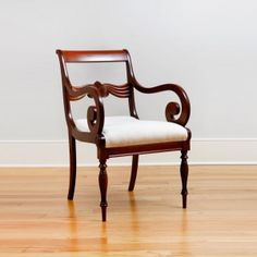 Pair of Antique Chairs in Cuban Mahogany, Northern Europe, c. 1835