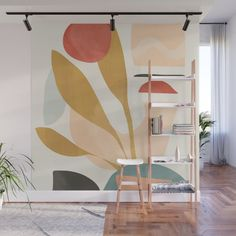 Abstraction_Nature_Beautiful_Day Wall Mural by forgetme Abstract Shapes, Geometric Shapes, Bathroom Mural, Removable Wall Murals, Mural Wall Art, Exhibition Poster, Modern Wall Art, Fabric Panels, Decor Styles