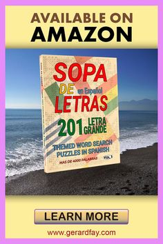 Looking for Word Search Brainteasers? Then this is a puzzle book that is perfect for you. With 201 fun, stimulating puzzle games, suitable for ADULTS, BEGINNERS, and EXPERT enthusiasts alike. With an abundance of themes using over 4000 WORDS, you can greatly improve or test your Spanish vocabulary. Word Search Games, Word Search Puzzles, Sight Word Games, Spanish Alphabet, Spanish Words, Spanish Language, Puzzle Books, Puzzle Games, Optimist Quotes