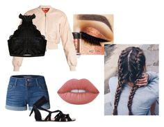"""""""Cropped"""" by angel-babii ❤ liked on Polyvore featuring Givenchy, LE3NO and Lime Crime"""
