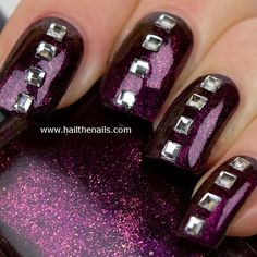 Crystal square Studs Nail Art