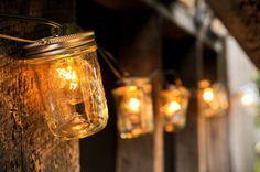 mason jar string lights.