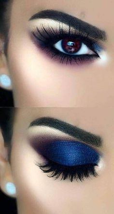 43 AWESOME CHIC and GLAMOUR EYE MAKEUP LOOKS Ideas and Images for 2019 PArt eye makeup tutorial; eye makeup for brown eyes; eye makeup for blue eyes; eye makeup natural We are want to say thanks if you like to share this post to another people via […] Natural Eye Makeup, Blue Eye Makeup, Smokey Eye Makeup, Eyeshadow Makeup, Makeup Looks For Brown Eyes, Navy Blue Makeup, Mac Makeup, Eyeshadow Palette, Makeup Brushes