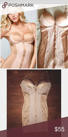 Victorias Secret bandage power figure shaper Like new. Tags were taken off but never worn. Nude and white extra padding on top  Size 36D Victoria's Secret Intimates & Sleepwear