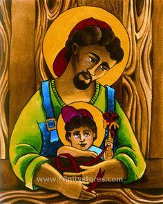 Joseph and Son - babywearing! St Joseph Catholic, Catholic Art, Catholic Saints, Religious Icons, Religious Art, Pictures Of Jesus Christ, Biblical Art, The Good Shepherd, Holy Ghost