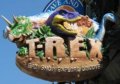 Kansas City, KS - T-Rex Cafe is a wild place to shop, eat, explore and discover. Guests are treated to a prehistoric adventure, including face-to-face encounters with life-size dinosaurs, geysers, ice caves, a waterfall and even a dinosaur dig.  T-Rex offers a remarkable array of electic food, exceptional service and phenomenal retail including Build-a-Dino workshop.