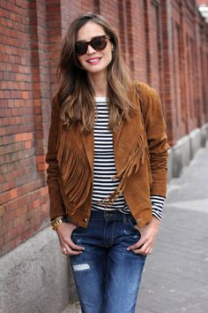 70's vintage brown suede fringe jacket on Etsy, $149.00 | Women's ...