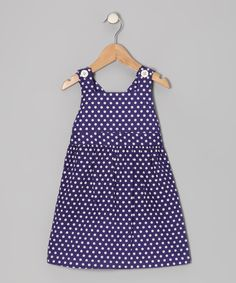 Take a look at this orange poppy kids Deep Wisteria Polka Dot Jumper - Toddler & Girls on zulily today!