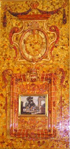 The Amber Room was designed in a baroque style by German sculptor Andreas Schlüter. Originally installed at Charlottenburg Palace for Prussian King Frederick William I, in 1716 this incredible work of art was gifted to Russian King Peter I to cement the Prussian/Russian alliance against Sweden.