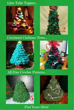*Christmas trees crochet free patterns*   Sanderella's Crochet