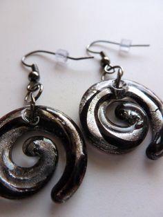 Black & Silver Spiral Earrings: https://www.etsy.com/listing/109929128/black-silver-spiral-earrings