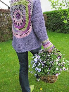 Wildflower Crochet Jacket Free Pattern