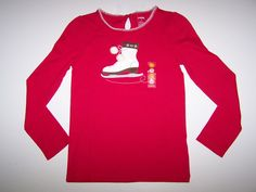 NWT GYMBOREE WINTER CHEER LONG SLEEVE TOP SIZE 4 YEARS  SINGLE SKATE #Gymboree #Everyday