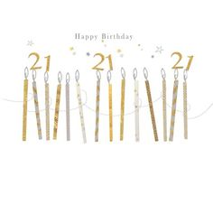 Happy 21st Birthday, Newsletter Design, Touch Of Gold, Iridescent, Free Printables, Banner, Greeting Cards, Happy Birthday, Birthday