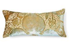 One Kings Lane - Kevin O'Brien - Persian 8x16 Pillow, Celadon