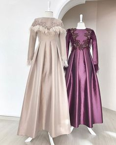 The very word conjures up images of gorgeous Muslim girls with pretty scarves tied around their head, hiding their hair from view. Muslim Evening Dresses, Hijab Evening Dress, Hijab Dress Party, Muslim Dress, Party Gowns, Muslim Fashion, Modest Fashion, Hijab Fashion, Fashion Dresses