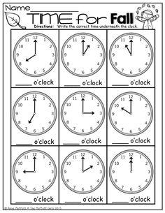 Teme by the hour Preschool Writing, Kindergarten Learning, Kindergarten Math Worksheets, Math Activities, Maths, Teaching Time, Teaching Math, Math Lessons, Spanish Lessons