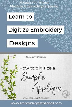 Learn to digitize an Applique with Floriani FTCU embroidery software. This tutorial includes step by step instructions, photos, video and a pdf download. via @EmbroideryGatherings