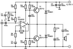 100W Subwoofer Amplifier Circuit Diagram, Working and