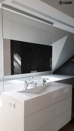 Amazing sanitary equipment from monolithic composite GFK Luxum. Washbasin with outflow line and bathtube, modern, untypical and custom made special for You.  You can order here -------- www.luxum.pl.   #modernwashbasin #bathtube #designbathroom #bathroomidea #washbasin #outflowlinewashbasin #compositebathroom #design #luxum #custommadewashbasin #custommadebathtube #bathroom #moderndesign #minimalisticbathroom