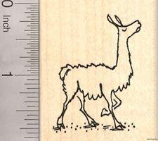 Llama with Attitude Rubber Stamp, Drama Llama G23618 WM