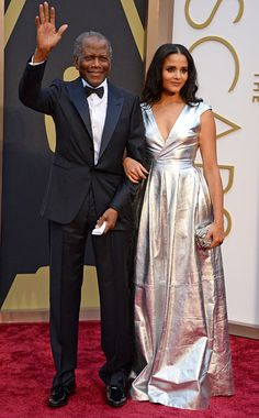 Sidney Poitier and his daughter Sydney Tamiia Poitier