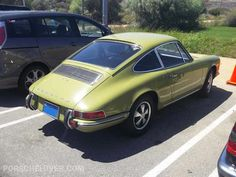 Quick facts about the Porsche 912 at Porschelover.com...  1969 Porsche 912 in Green - What a darling