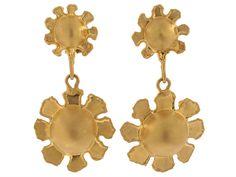 Jean Mahie Flower Earrings in 22K from Beladora.com