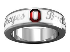 Official OSU white enameled ring from the Diamond Cellar!