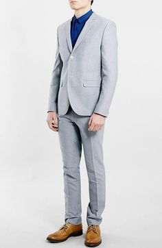 Topman Oxford Skinny Fit Suit available at #Nordstrom