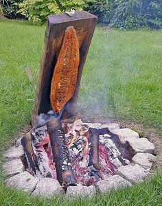 Würziger Flammlachs vom Feuer, ein raffiniertes Rezept aus der Kategorie Fisch. Bewertungen: 26. Durchschnitt: Ø 4,7.