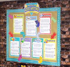 Use Marquee Arrow Accents and Border Trim trim to jazz up your Good Writing bulletin board!