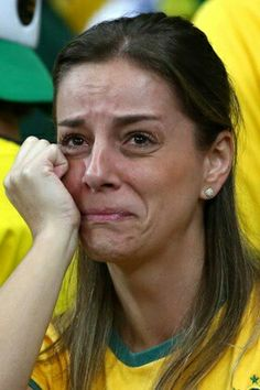 Brazilian fan after losing the World cup football final.