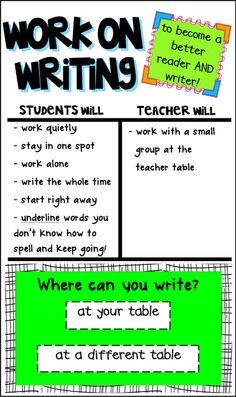 First Grade FUNdamentals!: Work on Writing I Chart