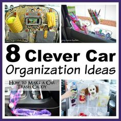 You don't need to buy any fancy organizers to keep your car neat! Here are 8 clever (and inexpensive) car organization ideas!