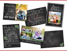 Free Chalkboard Christmas Card Printables!
