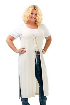 Charlie a Go-Go Women's Plus-Size Vintage Style Duster $49.99 & FREE Shipping. Small/Medium French Vanilla