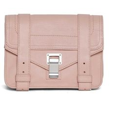 PROENZA SCHOULER 'Mini' leather crossbody (944 AUD) ❤ liked on Polyvore featuring bags, handbags, shoulder bags, crossbody handbag, leather crossbody purses, pink shoulder bag, leather crossbody handbags and leather cross body handbags