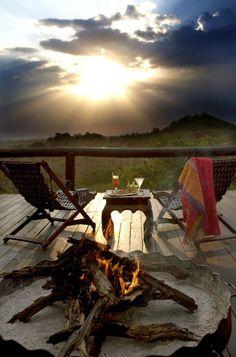 Sunset at the Serengeti Migration Camp, Tanzania <---- my country! :)