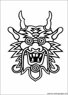 chinese new year printables: masks, dragons and coloring pages ... - Chinese Dragon Mask Coloring Pages